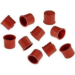 Beka 12750254 Sachet de 10 Capuchons N°2 rouge