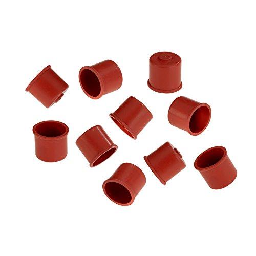Westmark Süßmostkappen, Für 0,7-1 Liter Flaschen, 10-teilig, Gummi, Rot, 40482251 -