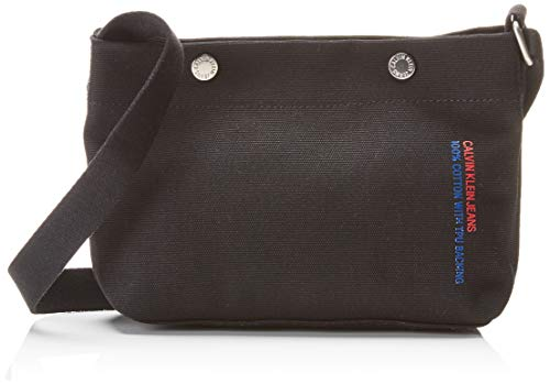 Kleine Snap Wallet (Calvin Klein Jeans Damen Canvas Utility Cb W/Snaps Clutch, Schwarz (BLACK), 6x15x24 cm)