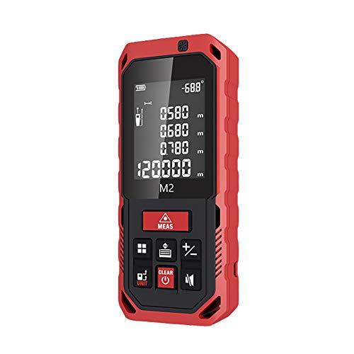 Laser Distance Meter, Massband Laser Entfernungsmesser, Hohe Präzision LCD Display automatische, Messen Sie Entfernung, Fläche und Volumen,Pythagoras,M250M