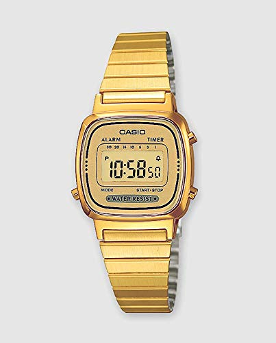 Casio Collection Damen Retro Armbanduhr LA670WEGA-9EF - Gold Uhren Frauen Casio
