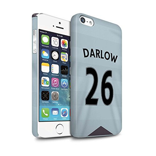 Offiziell Newcastle United FC Hülle / Matte Snap-On Case für Apple iPhone SE / Pack 29pcs Muster / NUFC Trikot Away 15/16 Kollektion Darlow