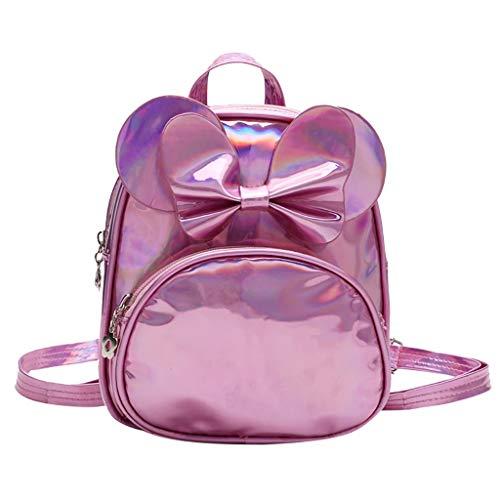 Dorical Kindergartenrucksack für Kinder Kleinkinder Süß Bogen Rucksack Backpack,Kinderrucksack Schule Tasche für Baby Jungen Mädchen 2-5 Jahr(Rosa)