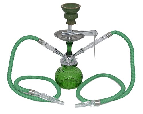 SHISHAS Smoking Hookah Pipes 1 o 2 o 3 Manguera Small Medium Large Adicional Grandes Shisha Puffs (DESIGN-147)