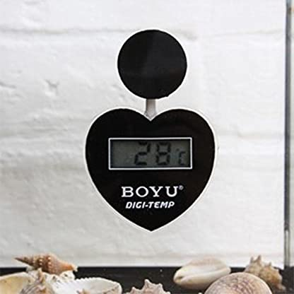 Boyu Digital Display Thermometer Aquarium Fish Tank Tropical/Marine (Digital Heart-Shaped Thermometer) 5
