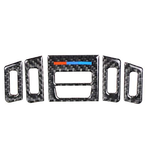 Uzinb 5pcs Front Air Conditioner Outlet Carbon-Faser-Trim-Abdeckung Ersatz für BMW E90 E92 E93 2005-2012 - Elektronik Outlet