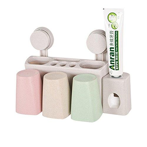 KPHY-- wand zahnbürste inhaber kreativen trottel, pinsel - cup, putz die zähne, gesicht, wall hanging rack (Die Zähne Hölzernen)