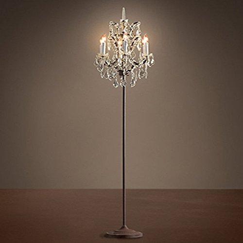 Amerikanischen Dorf Eisen Jugendstil kreative Persönlichkeit crystal candle light Wohnzimmer Schlafzimmer studie Stehleuchte