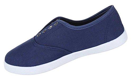 Damen Schuhe Freizeitschuhe Bequeme Slipper Blau