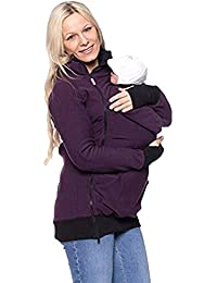 Mujer Embarazada Suéter con Capucha con Correa de Bebé Mochila Highdas 3 - en - 1 Chaqueta de Mujer Cardigan