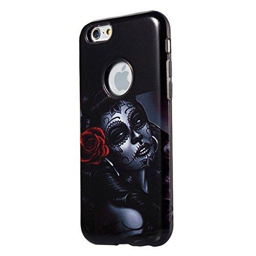 "MOONCASE iPhone 6 Plus/iPhone 6s Plus Coque, [Relief Pattern] Dual Layer Étuis Doux TPU Anti-rayures Antichoc Housse Case pour iPhone 6 Plus/iPhone 6s Plus 5.5"" Painting-2 Painting-3"