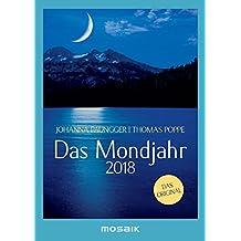 Das Mondjahr 2018: s/w-Taschenkalender - Das Original