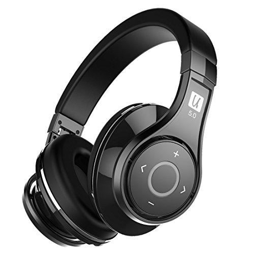 Bluedio u2 (ufo) cuffie wireless bluetooth 5.0, 3d sound/aptx / voice control/over-ear con microfono (nero)