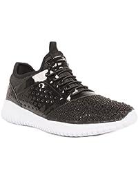 Primtex Baskets Brillantes Strass - Zapatillas de Deporte de Material Sintético Mujer
