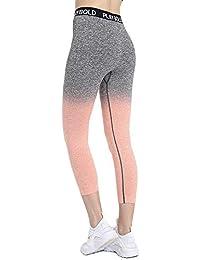 51ff258898d90 PLAYBOLD Seamless Girls Ombre Workout Pants Gym Running Yoga Sports Capri  Leggings