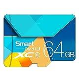 Memory Card, Flash Card TF Microsdhc Scheda di Memoria da 128 GB 64GB 32GB 16GB 80Mb / S Class10 U3 U1 SDXC Grade Evo + Micro SD Memory Card,64GB