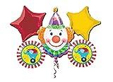Anagram IRPot - Bouquet Palloncini Foil N 2 Circo Clown Pagliaccio