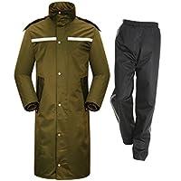 HUIYUAN - Chubasquero impermeable para hombre, capucha de longitud completa, para trabajo al aire libre, motocicleta, golf, pesca, senderismo, caza, camuflaje., color D, tamaño Large