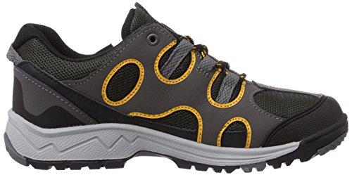 Jack Wolfskin Crosswind Texapore, mixte enfant Chaussures de Randonnée Basses Blury Yellow
