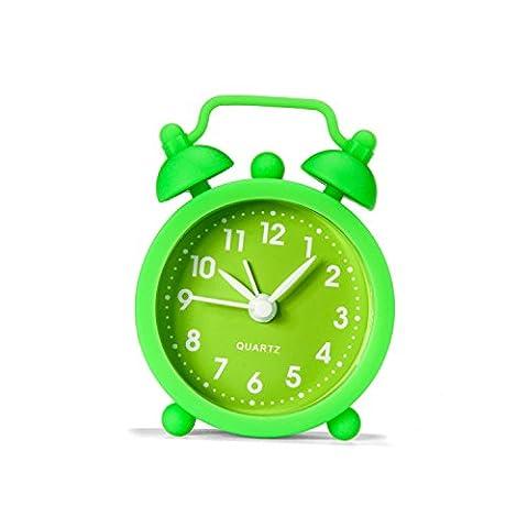 Réveil Enfant Alarm Clock Silicone Réveil Mode Slippery Lazy Student Enfant Alarm Table Horloge De Chevet Vert