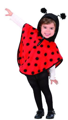 Children's Plush Ladybug Costume Infant 3 to 4 yrs (110cm) for Animal Jungle Farm Fancy Dress