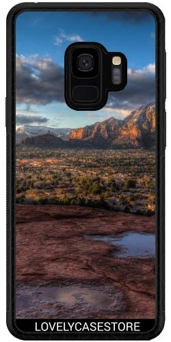 Lovelycasestore SilikonHülle für Samsung Galaxy S9 (SM-G960) - Grand Canyon Wüste USA USA Arid Cactus Sonnenuntergang