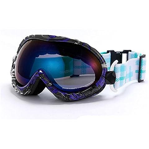 Double anti nebbia UVGoggles Sci & Snowboard occhiali, sostituibile miopia