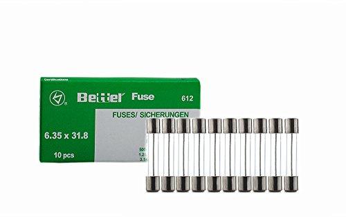 10er Päckchen Sicherungen 10A träge 6,3x32mm -