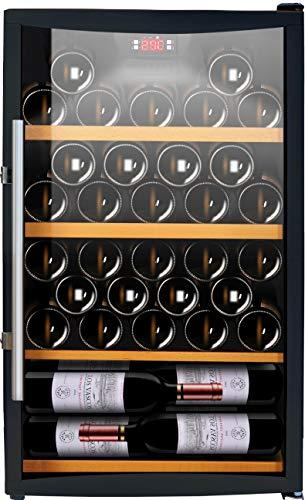 CAVISS Cave à vin de Service - 1 Temp. - 50 Bouteilles - Noir ACI-CVS131 - Pose Libre