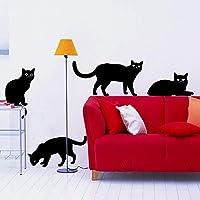 Adesivi Murali Con Gatti.Amazon It Gatti Adesivi E Murali Da Parete Pitture E