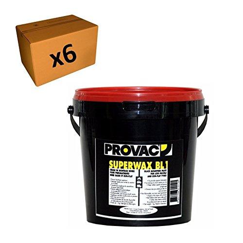 Provac - Pack 6 Crèmes De Montage Pneu 1kg Noir Auto Moto Vélo Quad