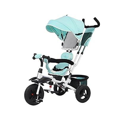 Triciclo plegable para niños 1-3 años Dirección del asiento Bebé Pedal Bicicleta Bebé Carrito para niños