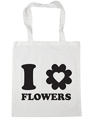 hippowarehouse-i-love-flowers-tote-shopping-gym-beach-bag-42cm-x38cm-10-litres