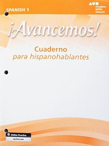 Avancemos, Level 1: Cuaderno Para Hispanohablantes (1 Avancemos)