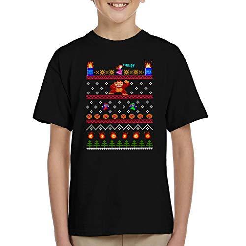 Donkey Kong Christmas Knit Pattern Kid's T-Shirt