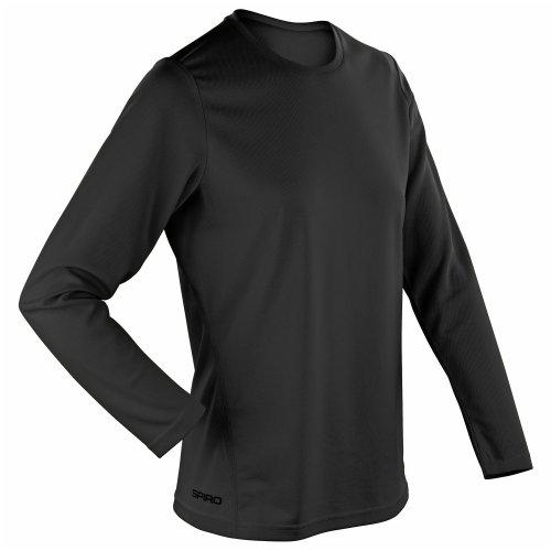Spiro Ladies/Womens Sports Quick-Dry Long Sleeve Performance T-Shirt