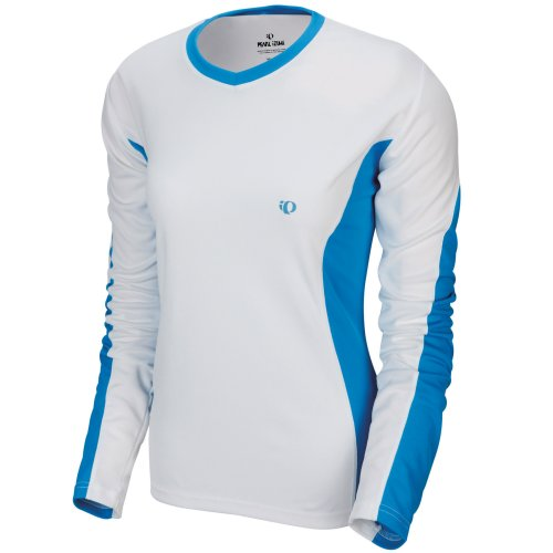 Pearl Izumi Damen Aurora Langarm T-Shirt White/Pacifica Blue