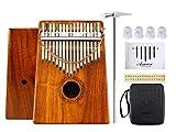 Asmuse KOA Kalimba Daumenklavier 17 Schlüssel Thumb Piano Mbira Finger Klavier Solid Sanza Instrument mit Tragetasche Musik Buch Musikwaage Aufkleber Stimm hammer Musikalisches Geschenk