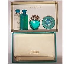 Idea Regalo - Cofanetto regalo Bvlgari Omnia Paraiba, contenente: eau de toilette da 25ml, gel doccia, lozione corpo, sapone e un omaggio
