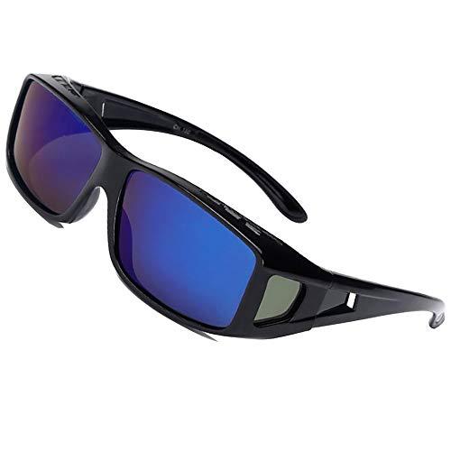 ce53214f78 Conducción Gafas de Sol Polarizadas Rectangular Fit Over Glasses con  Protector Lateral Lente de Conducción Protección