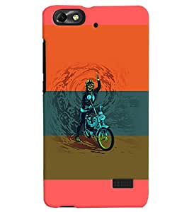 PrintVisa Sports Extreme Sports Bike 3D Hard Polycarbonate Designer Back Case Cover for Huawei Honor 4C