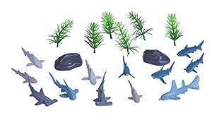 Wild Republic- Set de Caza Tiburones-Gigantes de los Mares, Pequeño, Cubo Aventura Mini, 10 cm, 20 Piezas, (23154)