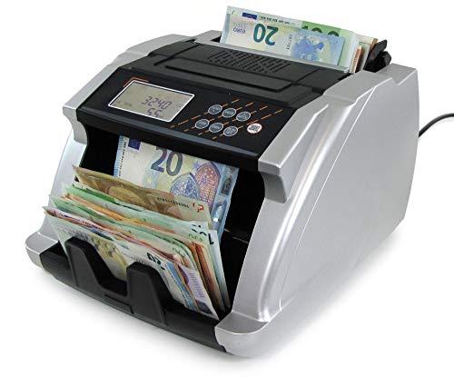 Tenzo-R 37307 Geldzählmaschine Wertzähler Banknoten Geldzähler silber mit Display TYP 2
