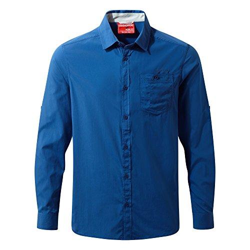 Craghoppers NosiLife Tatton Langarm Hemd Men - Insektengeschütztes Hemd Blau