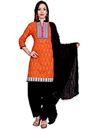 Rama Printed Orange Color Straight Kurta With Patiala & Dupatta Set