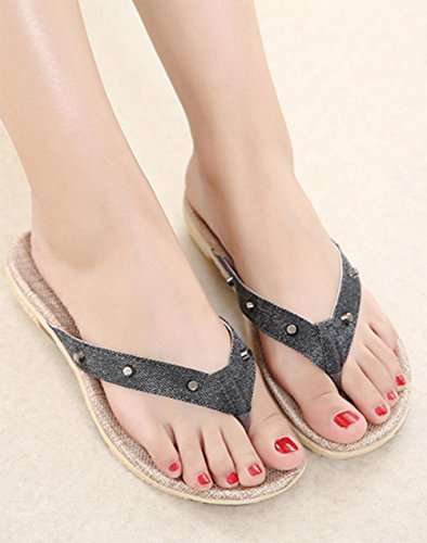 Mme pailleté sandales et pantoufles sandales pente femelle avec des chaussures antidérapantes de plate-forme de chaussures à fond épais Black