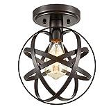 Dazhuan - Lámpara de techo (metal, 1 luz), diseño de globo terráqueo