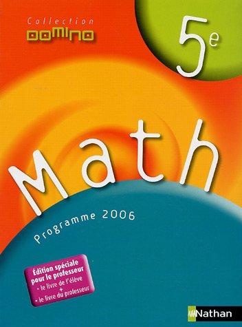 Math 5e : Programme 2006 par Christophe Hache, Véronique Donat, Hélène Gosset, Julie Horoks