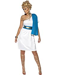Roman Beauty Kostüm mit Kleid, Toga, Gürtel und Kopfschmuck