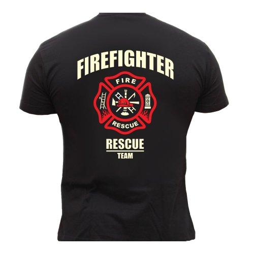 Rescue Point Firefighter Fireman Feuerwehr Herren T-Shirt KF8B (XL) b77b0c52995a